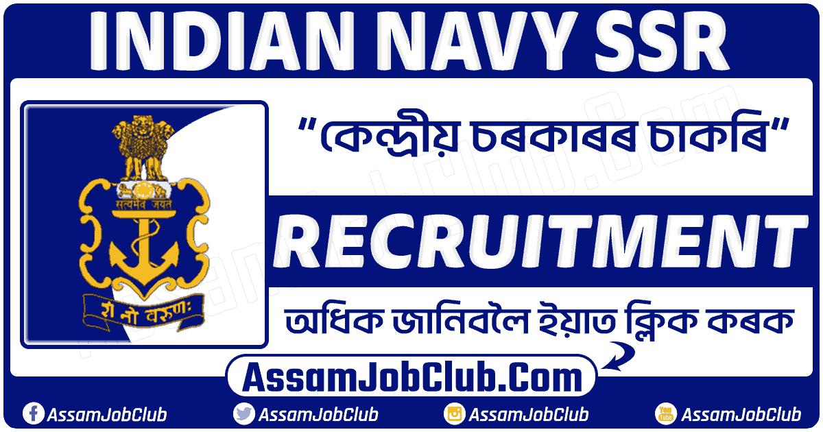 Indian Navy SSR Recruitment